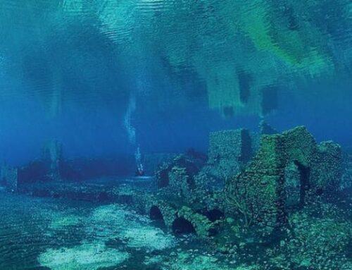 Il lago di Capo d'Acqua nella valle del Tirino è un'Atlantide sommersa